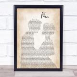 O.A.R. Peace Man Lady Bride Groom Wedding Song Lyric Print