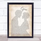 The Wolfe Tones Grace Man Lady Bride Groom Wedding Song Lyric Print