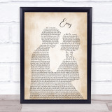 The Commodores Easy Man Lady Bride Groom Wedding Song Lyric Print