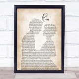 Snow Patrol Run Man Lady Bride Groom Wedding Song Lyric Print