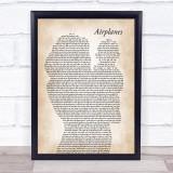 B.o.B Airplanes (clean edit) Mother & Baby Song Lyric Print