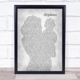 B.o.B Airplanes (clean edit) Mother & Baby Grey Song Lyric Print