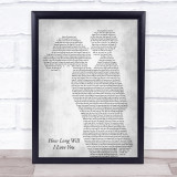 Ellie Goulding How Long Will I Love You Mother & Child Grey Song Lyric Print
