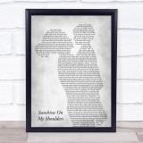 John Denver Sunshine On My Shoulders Mother & Child Grey Song Lyric Print