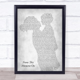 Shania Twain From This Moment On Mother & Child Grey Song Lyric Print