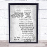 Plain White T's Hey There Delilah Mother & Child Grey Song Lyric Print