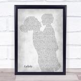 Lemar Lullaby Mother & Child Grey Song Lyric Print