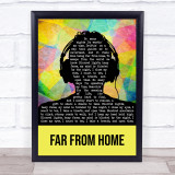 Gamper and Dadoni Far From Home Multicolour Man Headphones Song Lyric Print