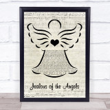 Donna Taggart Jealous of the Angels Music Script Angel Song Lyric Print