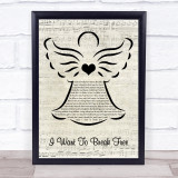 Queen I Want To Break Free Music Script Angel Song Lyric Print