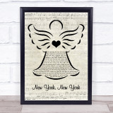 Frank Sinatra New York, New York Music Script Angel Song Lyric Print