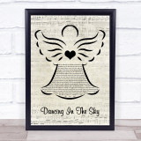 Dani And Lizzy Dancing In The Sky Music Script Angel Song Lyric Print