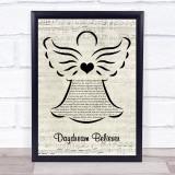 The Monkees Daydream Believer Music Script Angel Song Lyric Print