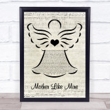 The Band Perry Mother Like Mine Music Script Angel Song Lyric Print