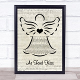Eddie Reader Ae Fond Kiss Music Script Angel Song Lyric Print