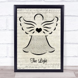 Disturbed The Light Music Script Angel Song Lyric Print