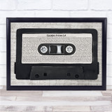 The Weeknd Escape From LA Music Script Cassette Tape Song Lyric Print