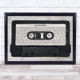 Pearl Jam Just Breathe Music Script Cassette Tape Song Lyric Print