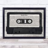 Arctic Monkeys Mardy Bum Music Script Cassette Tape Song Lyric Print