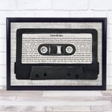 Womack & Womack Teardrops Music Script Cassette Tape Song Lyric Print