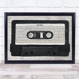 The Verve Sonnet Music Script Cassette Tape Song Lyric Print