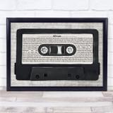 Toto Africa Music Script Cassette Tape Song Lyric Print