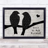 Wet Wet Wet Love Is All Around Lovebirds Music Script Song Lyric Print