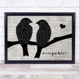 Fleetwood Mac Everywhere Lovebirds Music Script Song Lyric Print