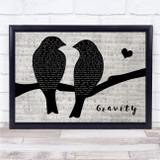 DJ Fresh feat Ella Eyre Gravity Lovebirds Music Script Song Lyric Print