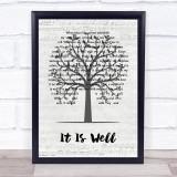 Kutless It Is Well Music Script Tree Song Lyric Print