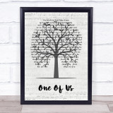 Liam Gallagher One Of Us Music Script Tree Song Lyric Print