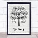 Tina Turner The Best Music Script Tree Song Lyric Print