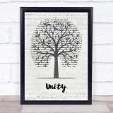 Shinedown Unity Music Script Tree Song Lyric Print