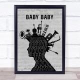 The Vibrators Baby Baby Musical Instrument Mohawk Song Lyric Print