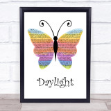 Taylor Swift Daylight Rainbow Butterfly Song Lyric Print