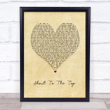 The Style Council Shout To The Top Vintage Heart Song Lyric Print