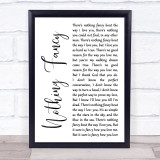 Dave Barnes Nothing Fancy White Script Song Lyric Print