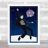 Elvis Disco Ball Pop Art Funky Wall Art Print