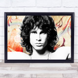 Jim Morrison Classic Hippy Painting Style Funky Wall Art Print