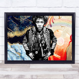Jimi Hendrix Black And White Hippy Electric Love Funky Wall Art Print