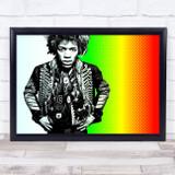 Jimi Hendrix Bright Retro Funky Wall Art Print