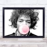 Jimi Hendrix Electric Graphic Line Landscape Bubblegum Wall Art Print