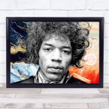 Jimi Hendrix Funky Electric Music Wall Art Print