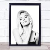 Margot Robbie B&W Wall Art Print