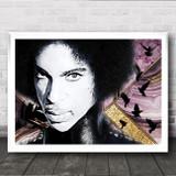Prince Landscape Purple Rain Doves Funky Wall Art Print
