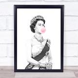 Queen Elizabeth Rules Bubblegum Wall Art Print