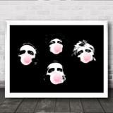 Queen Silhouette Poster Bubblegum Wall Art Print