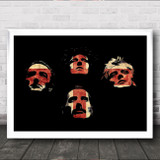 Queen Silhouette Poster Great Britain Flag Wall Art Print