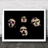 Queen Silhouette Poster Vintage Burst Wall Art Print