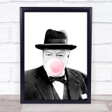 Winston Churchill Bubblegum Wall Art Print
